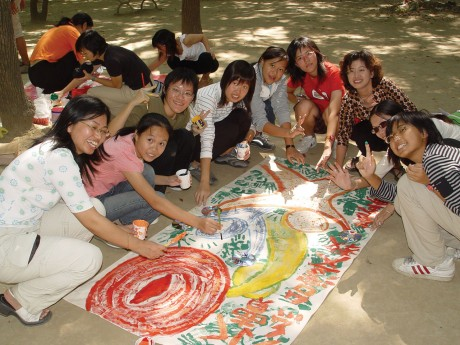 Global Art Project for Peace participants in southeast Asia.